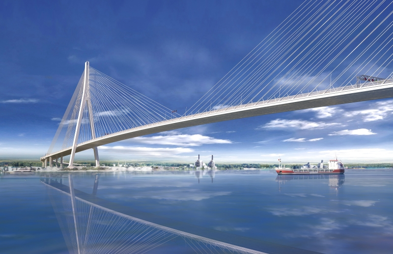 Cable Stayed Rendering Reduced Size
